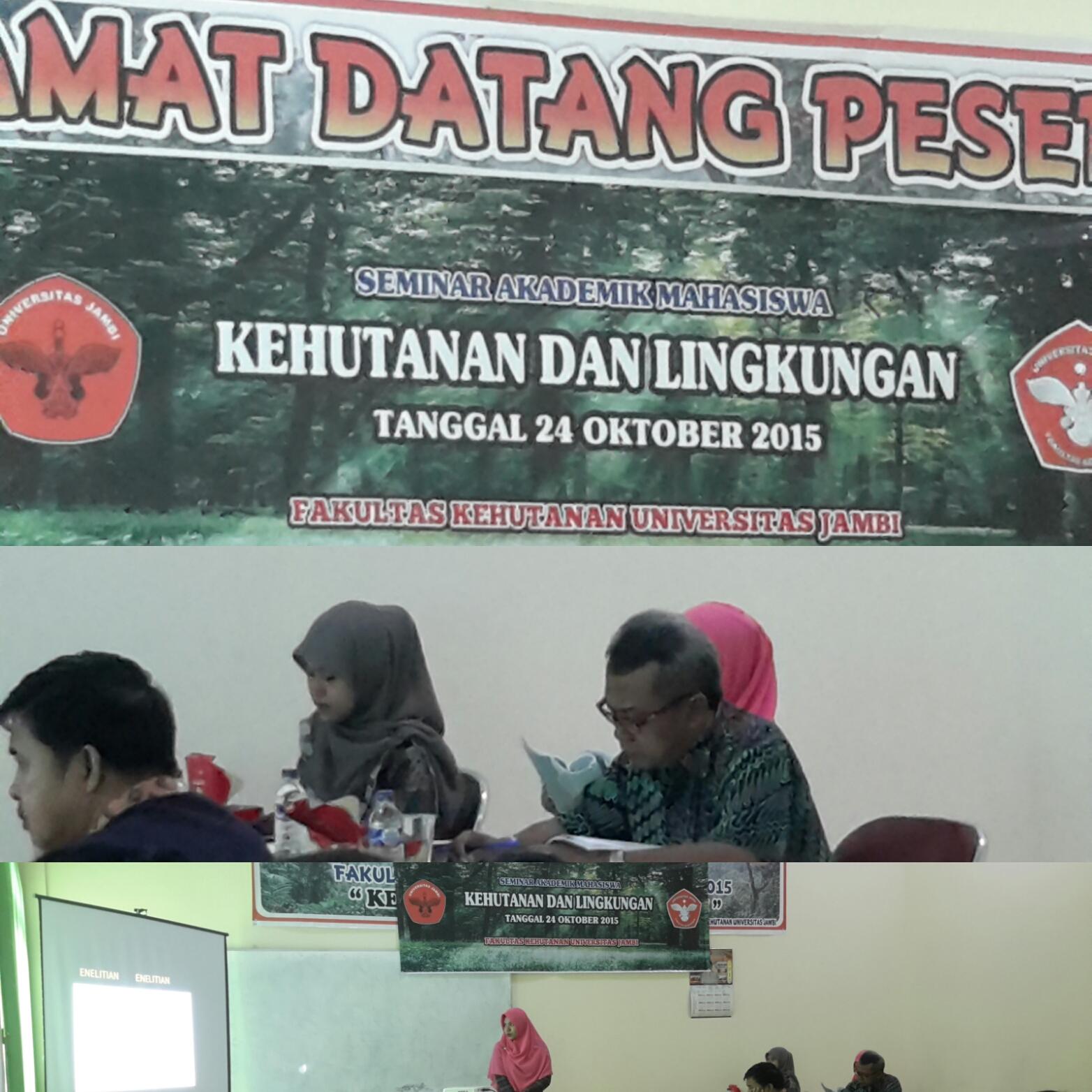 Seminar Akademik Mahasiswa Kehutanan 2015